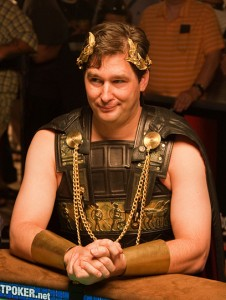 Phil Hellmuth as Roman emperor